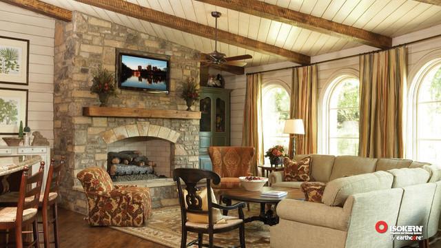 isokern wood fireplace