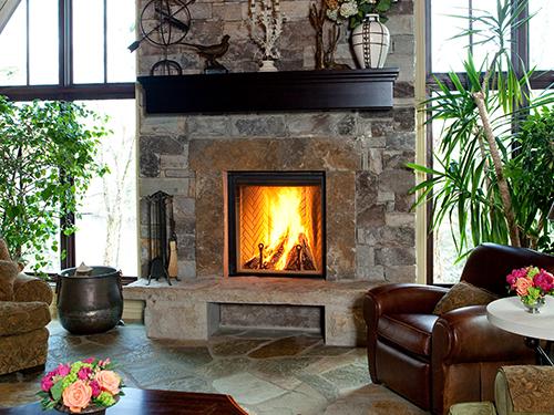 renassance wood fireplace